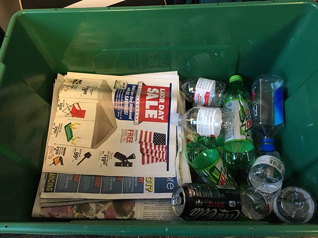 Please see this example of how to properly sort your recycling in one bin.