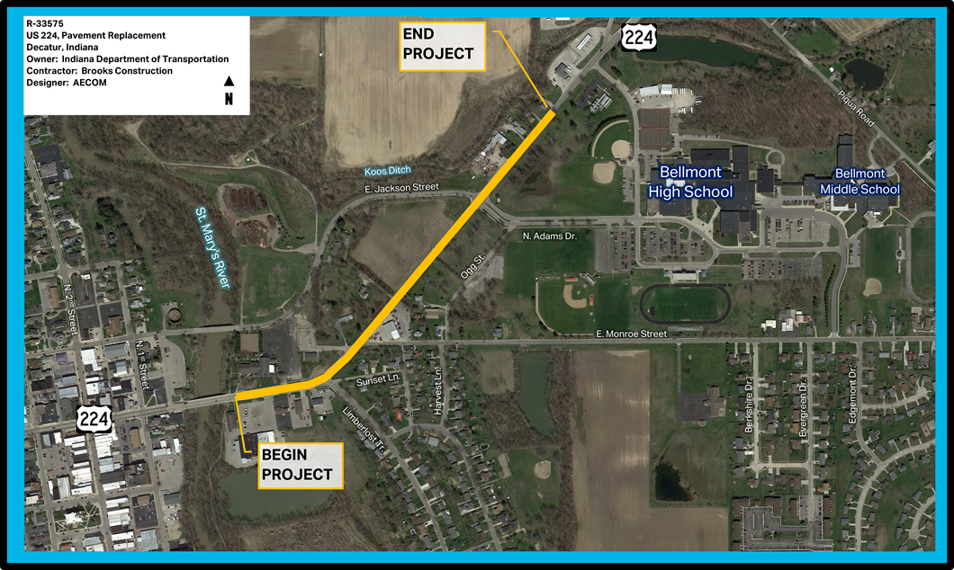 US 224 Project Overview Map