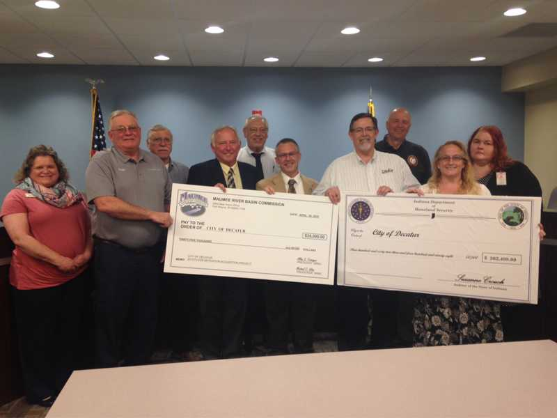 FEMA Check Presentation for Home Buyouts